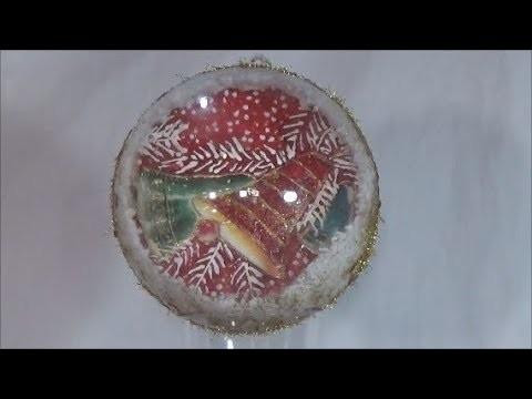 DIY plexiglass Christmas ball-The bell.Χριστουγεννιάτικη μπάλα πλεξιγκλάς
