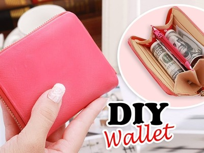 DIY PURSE WALLET TUTORIAL. Cute Red Zipper Pouch