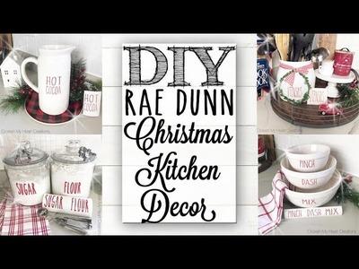 DIY Rae Dunn Christmas Kitchen Decor &  Easy Labels!