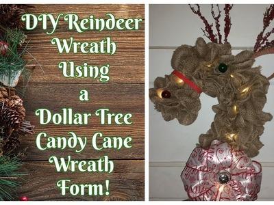 DIY Reindeer Wreath for Christmas!