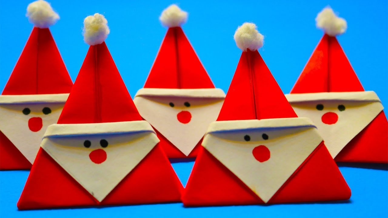 DIY Santa Claus From Paper | Christmas Craft Ideas