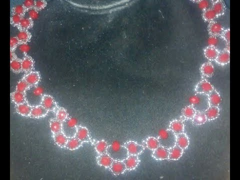 DIY tutorial on how to make this beaded necklace