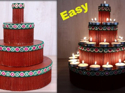 Diya Stand . . Easy || Diwali Decoration Idea || How to Make Diya Stand at Home | Best Out of Waste