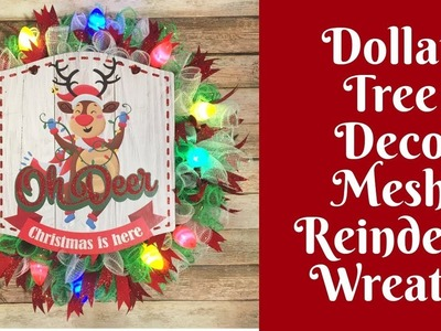 Dollar Tree Christmas Crafts: Reindeer Wreath