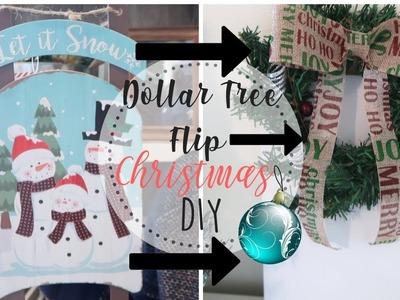 Dollar Tree Christmas DIY   Christmas Decor DIY   Dollar Tree Sled   Dollar Store Flip