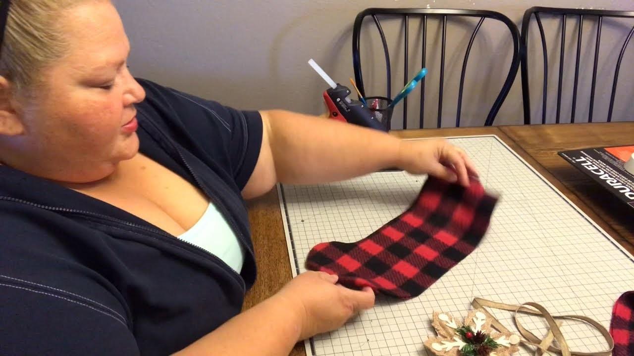 Dollar Tree DIY - Christmas Stocking (No Sewing)
