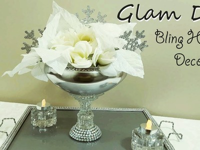 Dollar Tree DIY Glam Bling Christmas Centerpiece