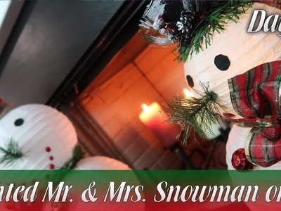 Dollar Tree DIY | Lighted Mr. and Mrs. Snowman on Ice | How To