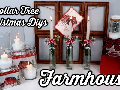 DOLLAR TREE DIYS | FARMHOUSE CHRISTMAS | CHIC ON THE CHEAP