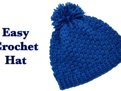 Easy crochet hat | beanie for boys and girls with basket weave stitch by Crochet for Baby #157