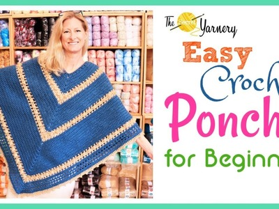Easy Crochet Popcorn Poncho for Beginners