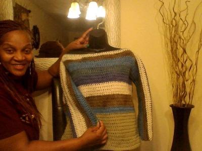 Easy Crochet Sweater Tutorial  PART 2