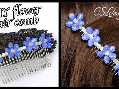 Easy DIY flower hair comb