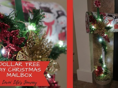 Easy Dollar Tree DIY Christmas Mailbox Decor