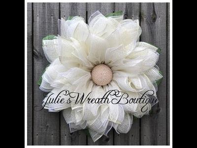 Elegant Flower Wreath Part 1. Facebook Live Replay
