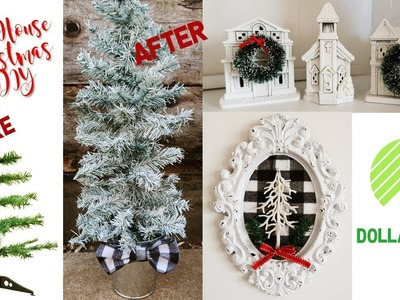 Farm House Inspired DOLLAR TREE CHRISTMAS DIY | DIY decor challenge