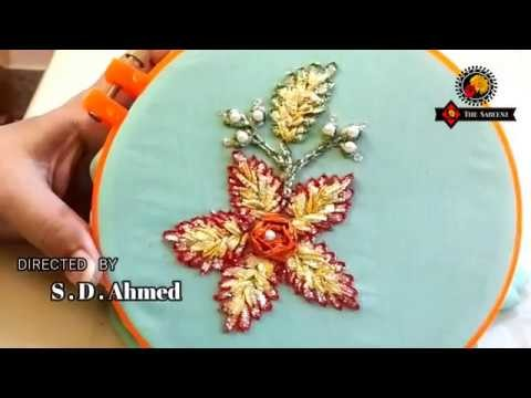 Gota embroidery-how to make double layer flower tutorial in urdu