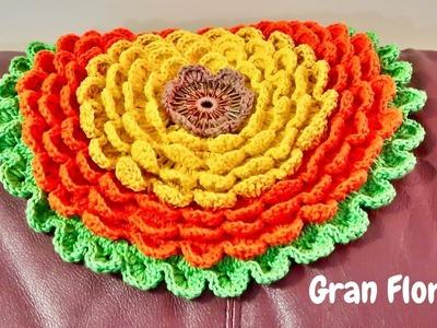 Gran Flor (Blooming flower) a crochet paso a paso (Versión Diestra)
