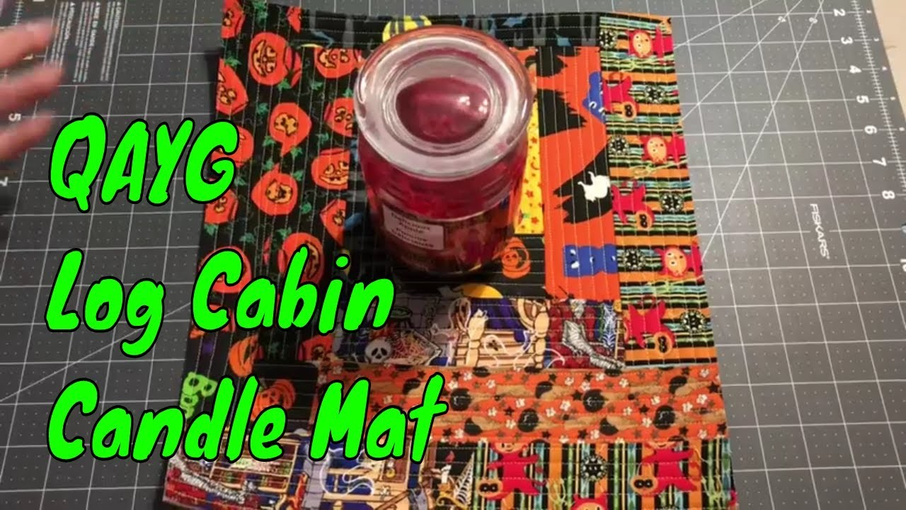 Halloween QAYG Log Cabin Table Topper or Candle Mat