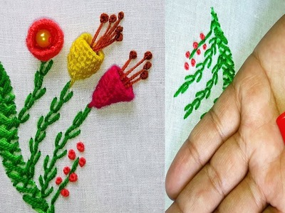 Hand Embroidery Amazing Trick   Sewing Hack Easy Embroidery Trick.