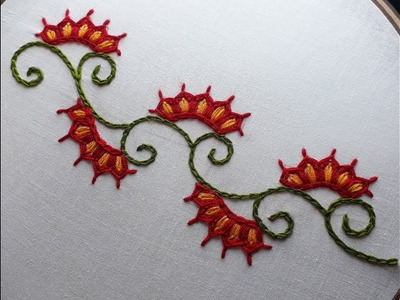 Hand embroidery Border design   Border design for dresses