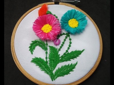 Hand Embroidery - Tassel Stitch Flower Embroidery