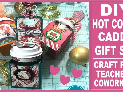 Hot Cocoa Gift Set Series -  DIY Single Hot Cocoa Caddy Gift Set - Free Template for subscribers