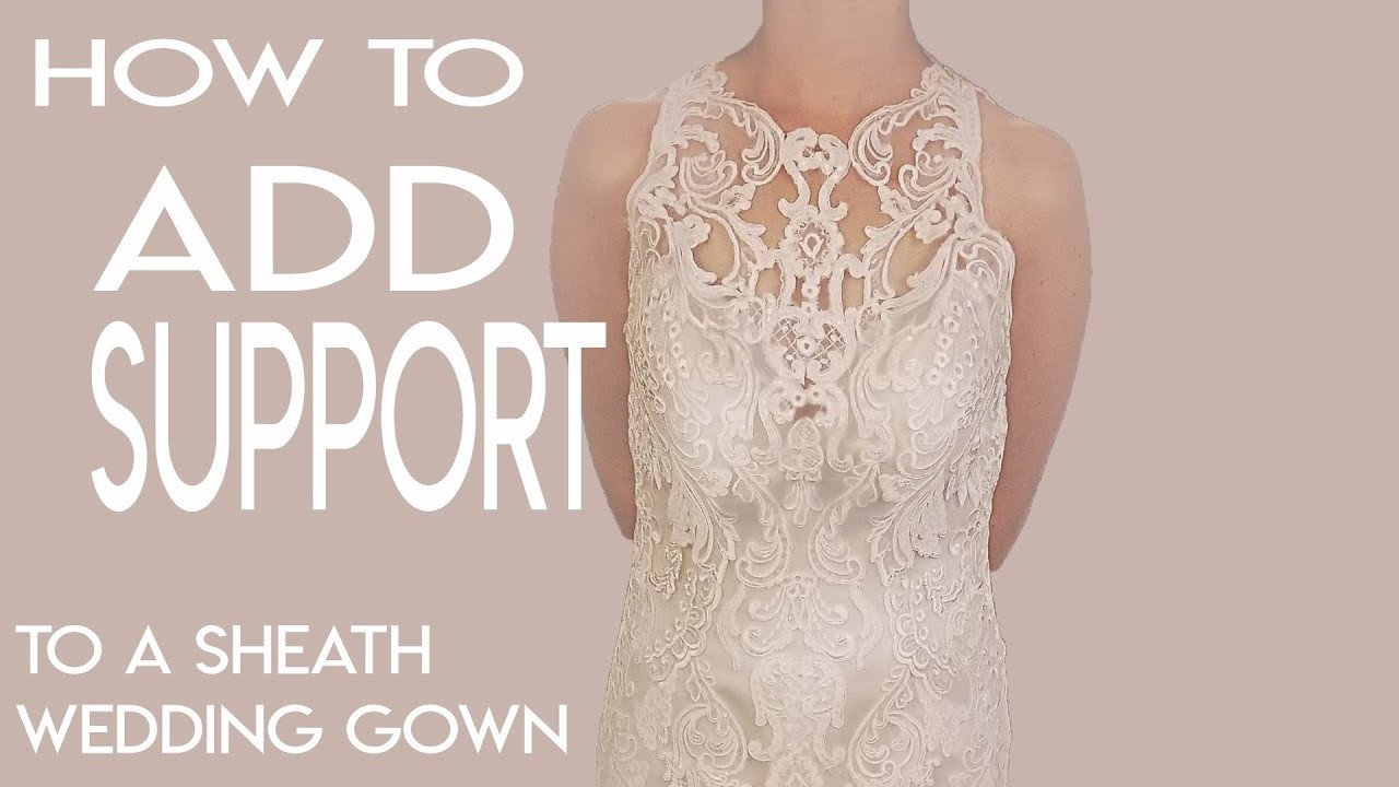 How to Add Support to a Sheath Wedding Gown, Add Boning