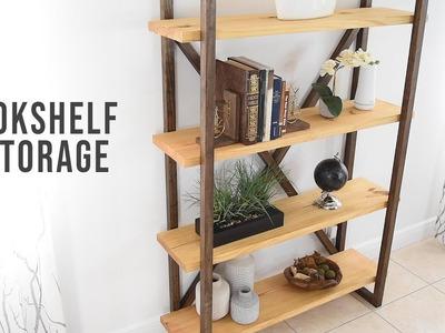 How To Build A Rustic  Bookshelf - Storage & Organization