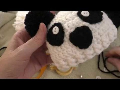 How to Crochet a Panda Preemie Hat Part 1 (Right Handed)