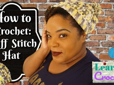 How to Crochet: Easy Puff Stitch Hat for Beginners | ❤LifeWithLisa343????