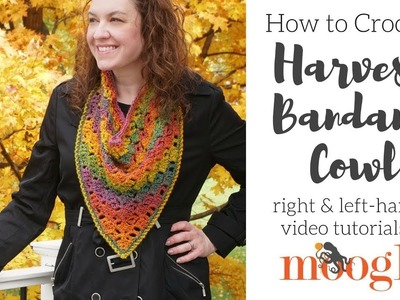 How to Crochet: Harvest Bandana Cowl (Right Handed)