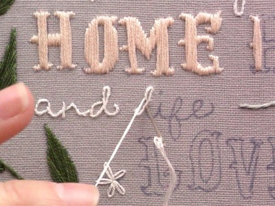 Stitch How To Embroider Letters Using The Stem Stitch How To