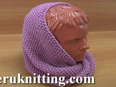 How to make a knitted snood scarf Tutorial 237