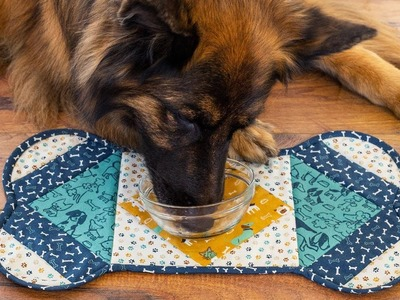 How to Make a Quilt As You Go Dog Placemat | A Shabby Fabrics Sewing Tutorial