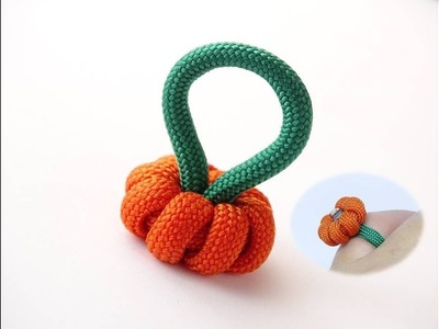 How to Make a Simple Paracord Pumpkin.Ring-Halloween Jack-O'-Lantern by CbyS-DIY Halloween Ideas