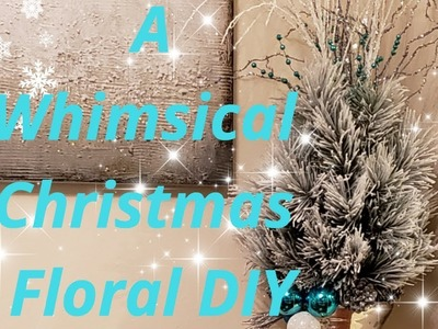 ????❄How to Make a Whimsical Christmas Floral Arrangement with Zgallerie Alex Vase