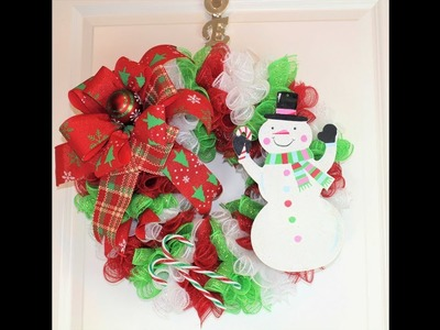 How to make an adorable snowman wreath with dollar tree supplies