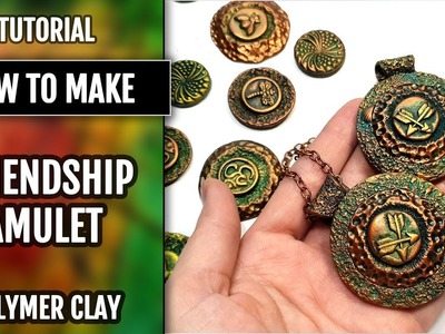 "How to Make Pendant Using the buttons mold - Crossed Arrows ""Friendship"" Amulet. Polymer Clay"