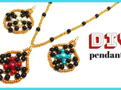 How to make pendants with beads. easy beading for beginners. jewelry making