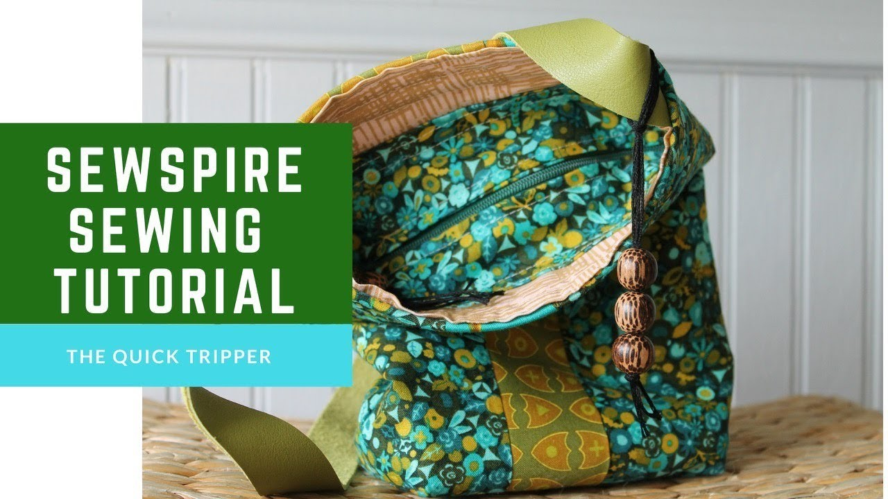 How to Sew The Quick Tripper by Sewspire a Sewing Tutorial for a Small Bag with Recessed Zipper
