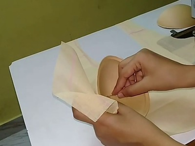 How to stitch padded blouse just in 10 minutes, easiest way to make padded cups blouse