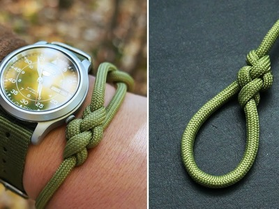 How to Tie a Broach Knot   Broach Knot Bracelet Tutorial   Adjustable Paracord Bracelet