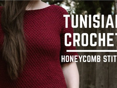 How To Tunisian Crochet The Honeycomb Stitch