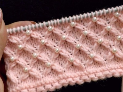 Knitting Lattice Pattern With Beads for Ladies Coats, Jackets, Cardigans, Baby Sets, Cushions etc
