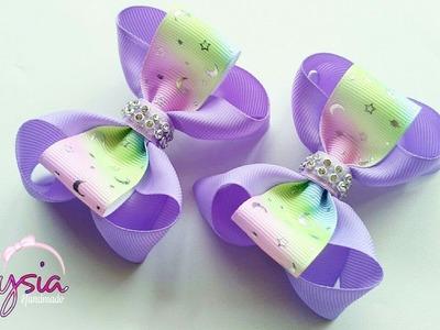 Laço Boutique Embutido ???? Ribbon Bow Tutorial ???? DIY by Elysia Handmade