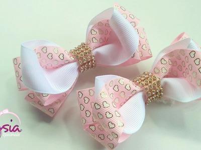 Laço Vanessa Fita N5 ???? Ribbon Bow Tutorial ???? DIY by Elysia Handmade