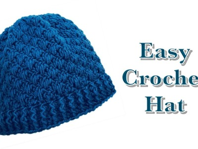 ((LEFT HANDED)) Easy crochet beanie hat for boys and girls 4-5 years by crochet for baby #155