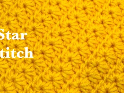 ((LEFT HANDED)) How to crochet the star stitch - easy and fast crochet stitch for hats and more #159