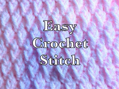((LEFT HANDED)) Tricot crochet stitch -Fast and easy by Crochet for Baby #158